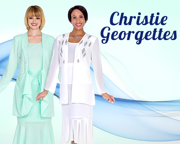 Christie Aussie Austine Georgette Church Suits 2020